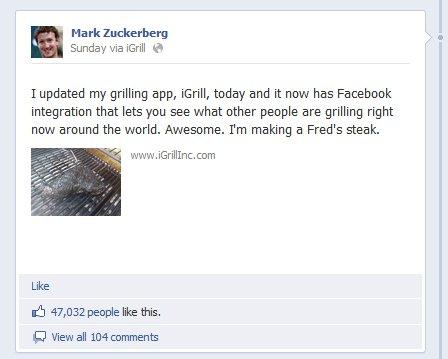 Mark Zuckerberg Eating meat