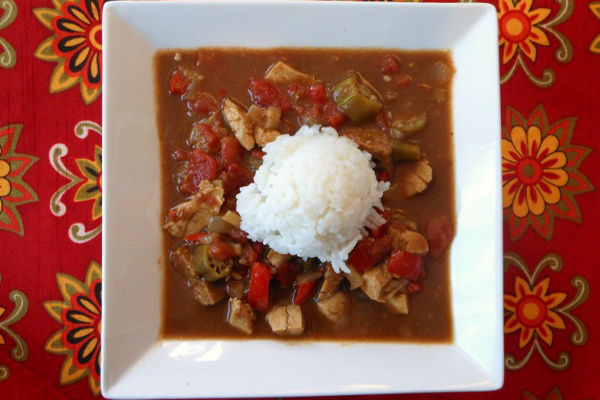 THE BEST Vegan Chicken and Sausage Gumbo