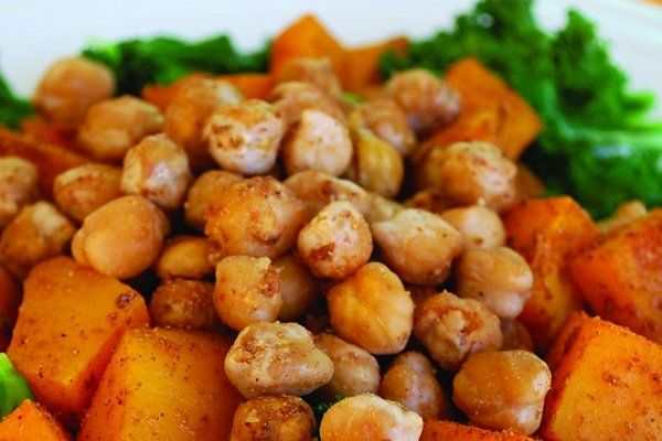moroccan sweet potatoes and chickpeas