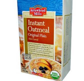 Arrowhead Mills instant oatmeal