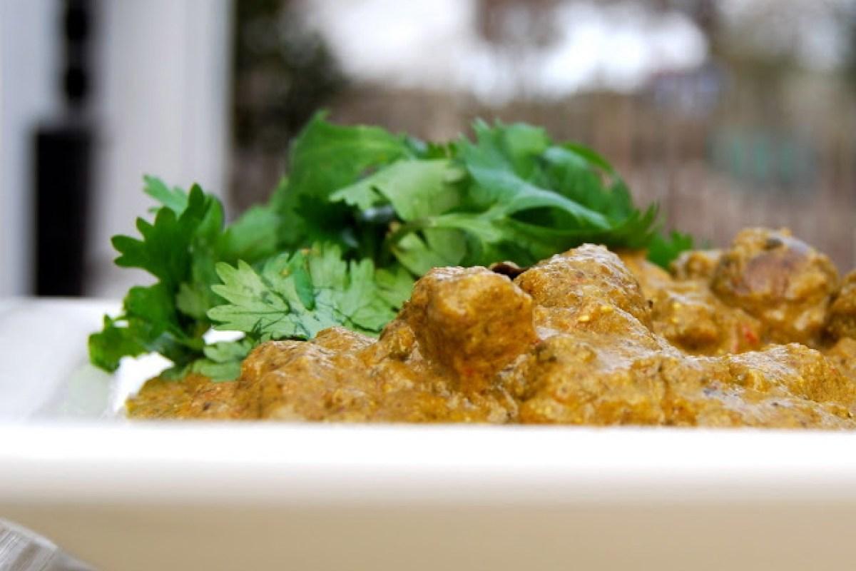 Spinach 'Chicken' Curry