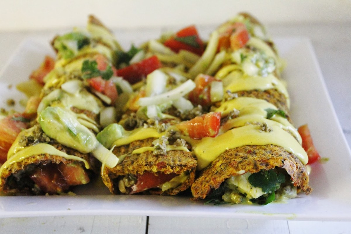 10 raw vegan dishes everyone needs to try whether youre raw or raw vegan enchiladas with chunky salsa cheesy sauce and spicy nut meat forumfinder Images