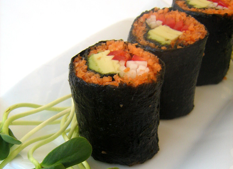 Raw-Carrot-sushi