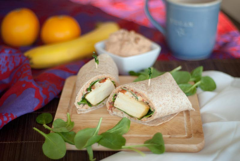 Spinach-Feta-Wrap