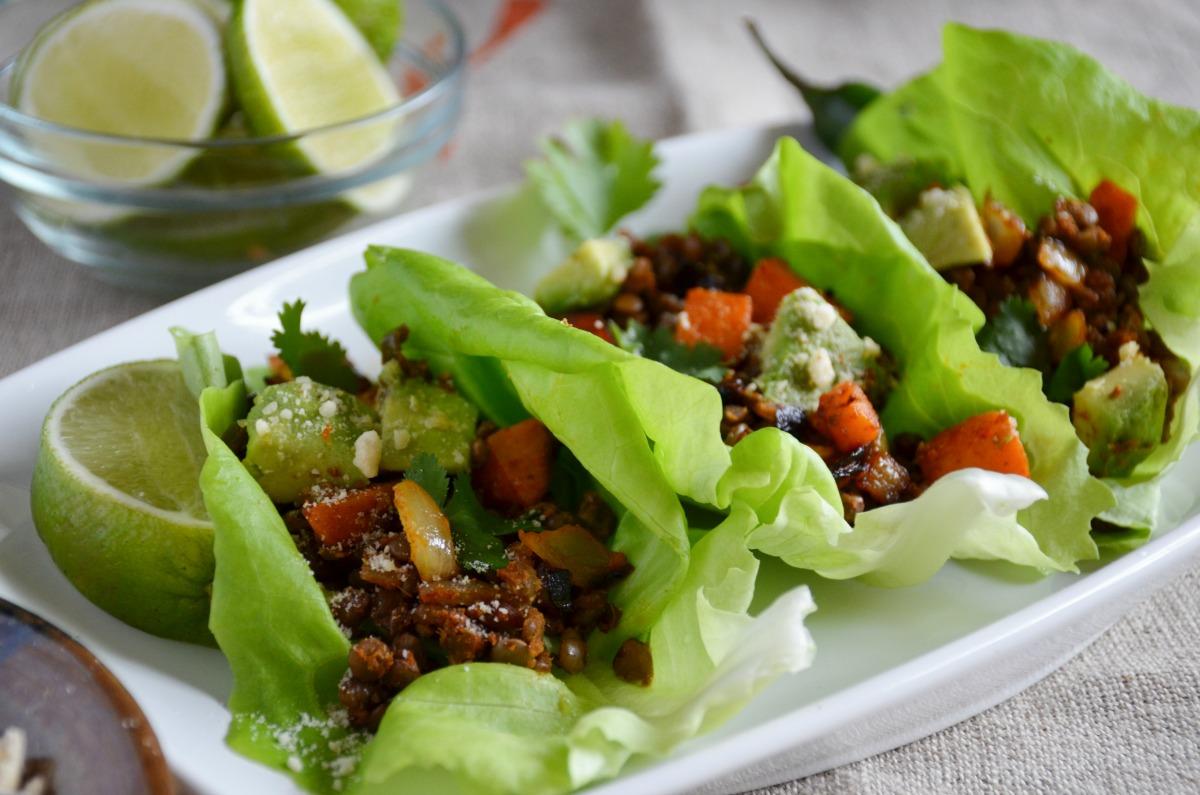 Lentil Taco Lettuce Wraps [Vegan, Gluten-Free]