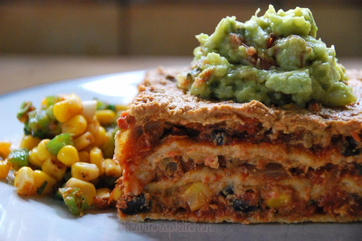Chili Tortilla Lasagne [Vegan]