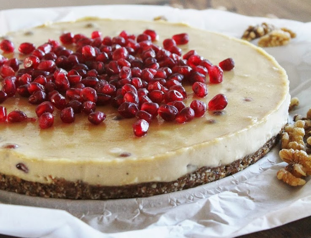 Cashew-Citrus-Cream-Cake-with-Pomegranate