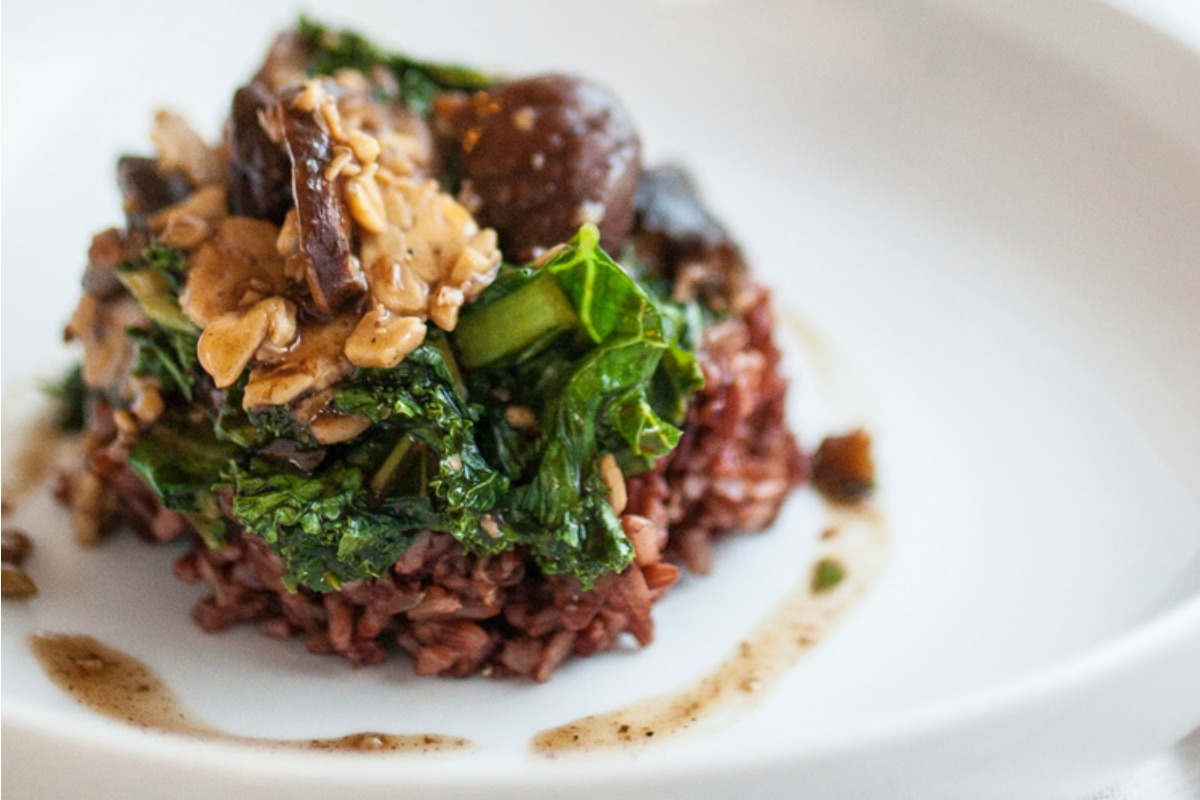 Shiitake Tempeh and Kale Stir-Fry [Vegan, Gluten-Free]
