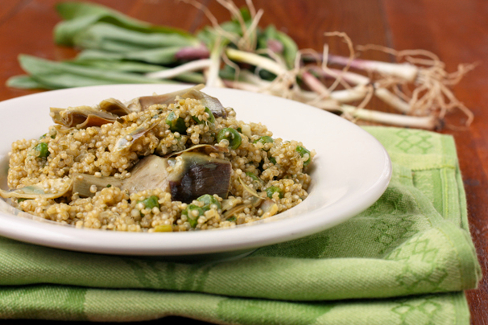 Quinao-Pilaf-with-Ramps-Artichokes-and-Peas (1)