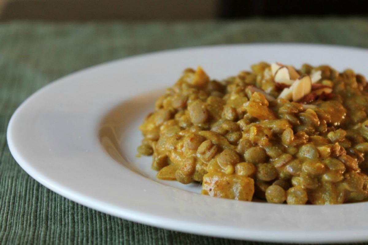 Almond Curry Lentils [Vegan, Gluten-Free]