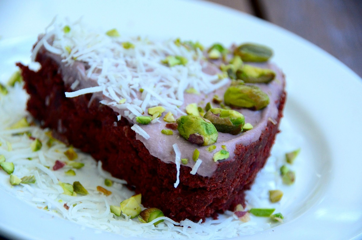 Chocolate Beet Cake With Raspberry Frosting [Vegan, Raw, Gluten-Free]