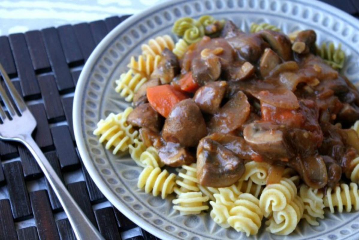 Vegan Mushroom Bourguignon [Gluten-Free]
