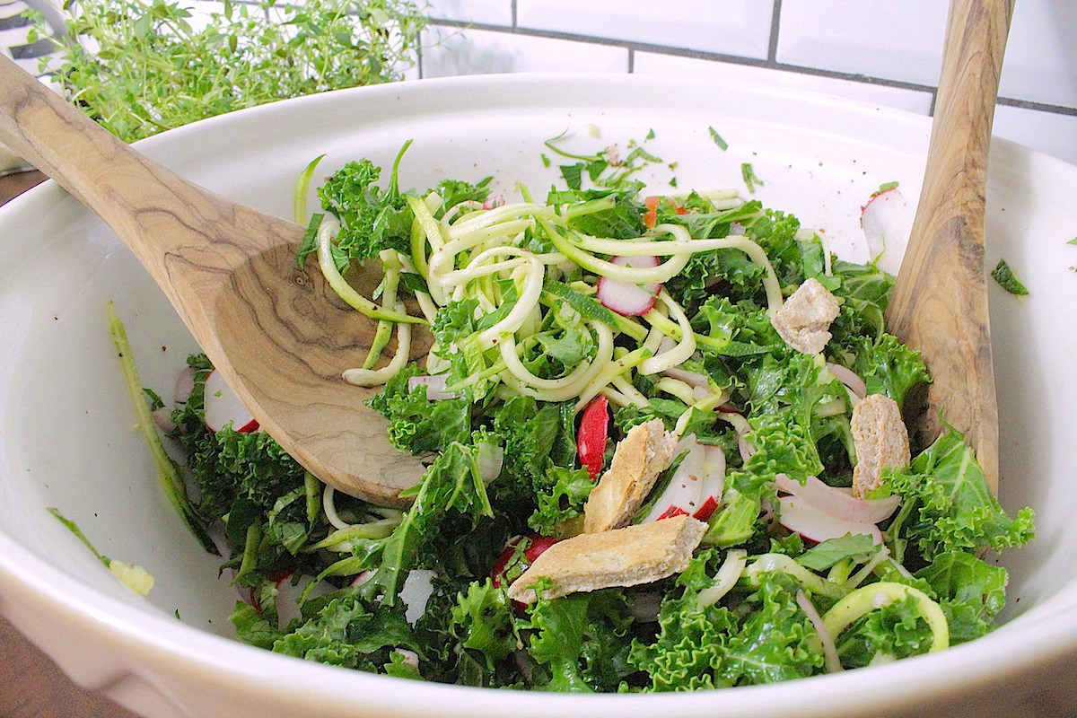 Kale Fattoush [Vegan, Gluten-Free]