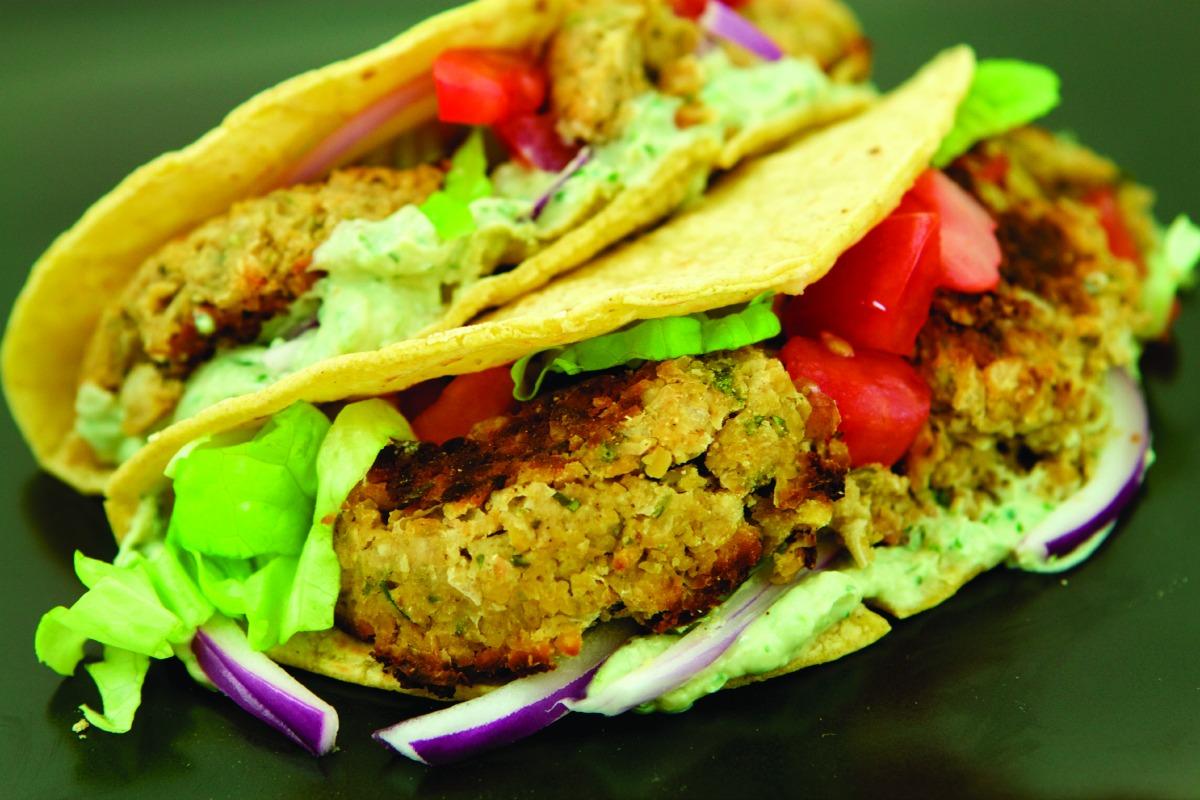 Falafel Tacos [Vegan]