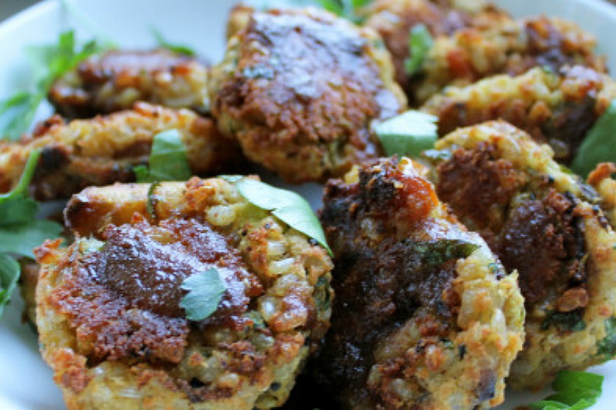 Kitchari Patties (Spiced Red Lentils and Rice) [Vegan, Gluten-Free]