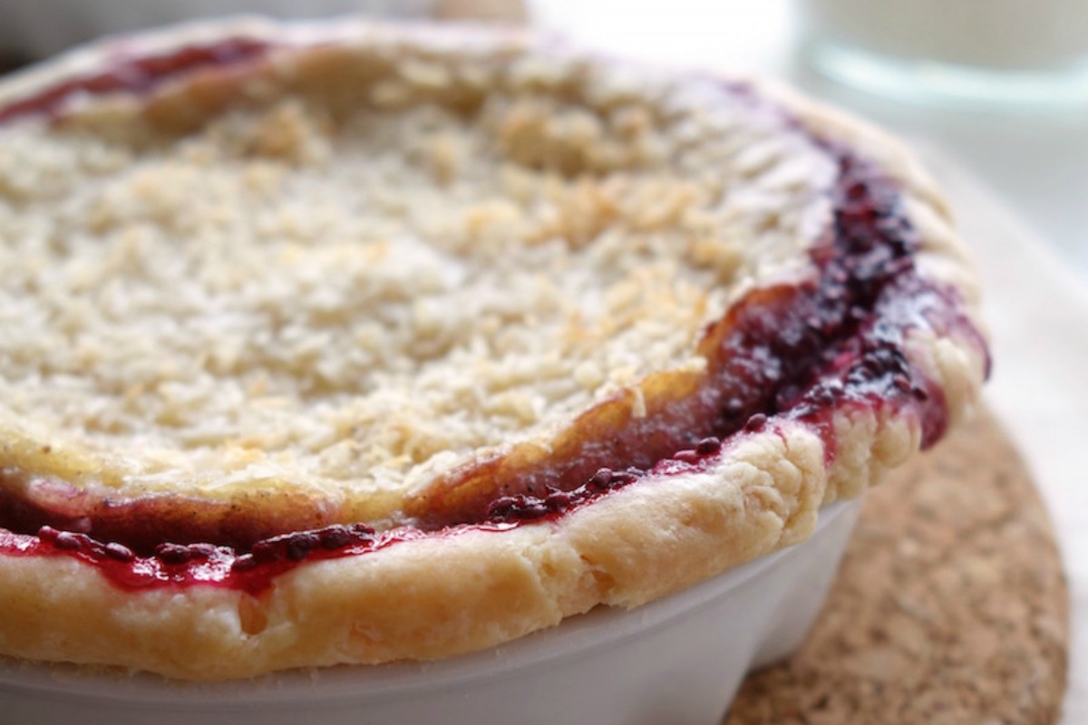Coconut Cream Pie With Berry Chia Jam [Vegan]