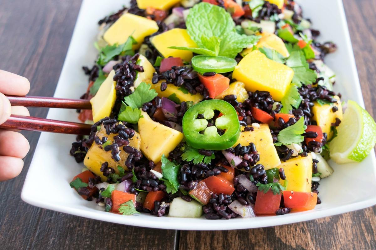 Forbidden Rice and Mango Salad [Vegan, Gluten-Free]