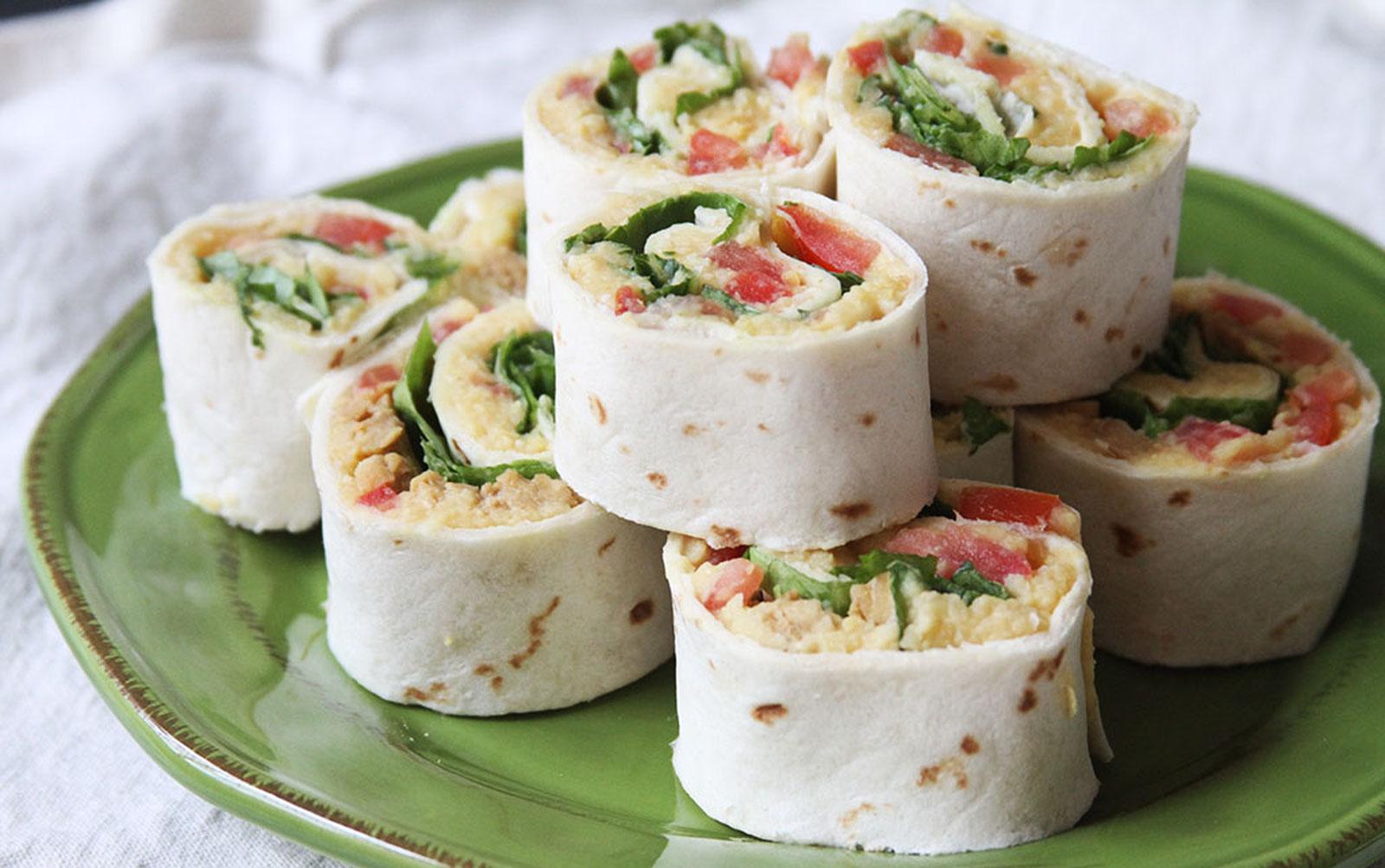 Cheesy Hummus Tempeh Pinwheels [Vegan]