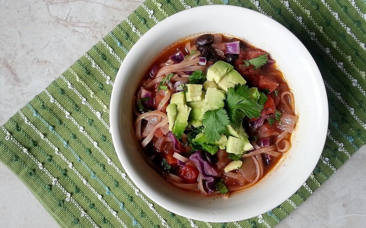 Mexican Noodle Soup [Vegan, Gluten-Free]