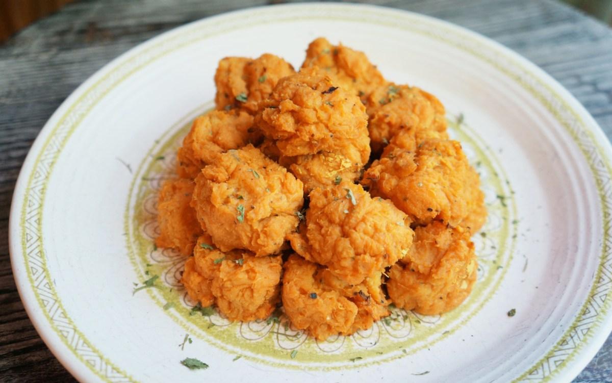Cheesy Sweet Potato Tots [Vegan, Gluten-Free]