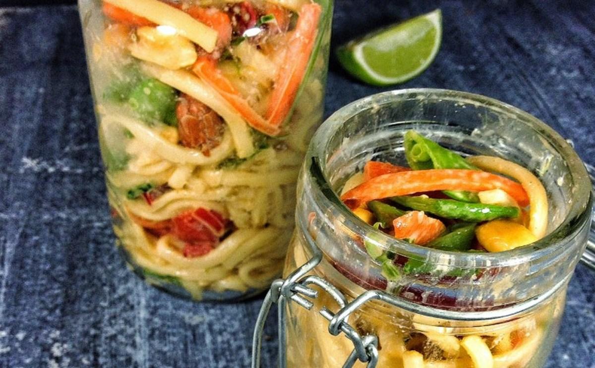 Udon Noodle Salad Jars [Vegan]