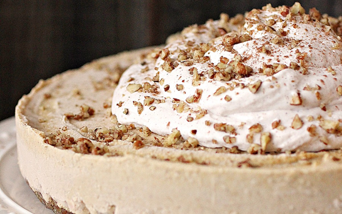 Pumpkin Cashew Cheesecake With Coconut Whipped Cream