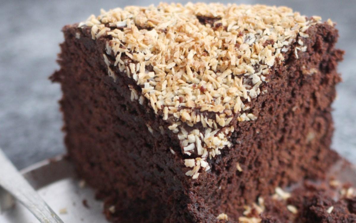 Chocolate Coconut Rum Cake [Vegan]