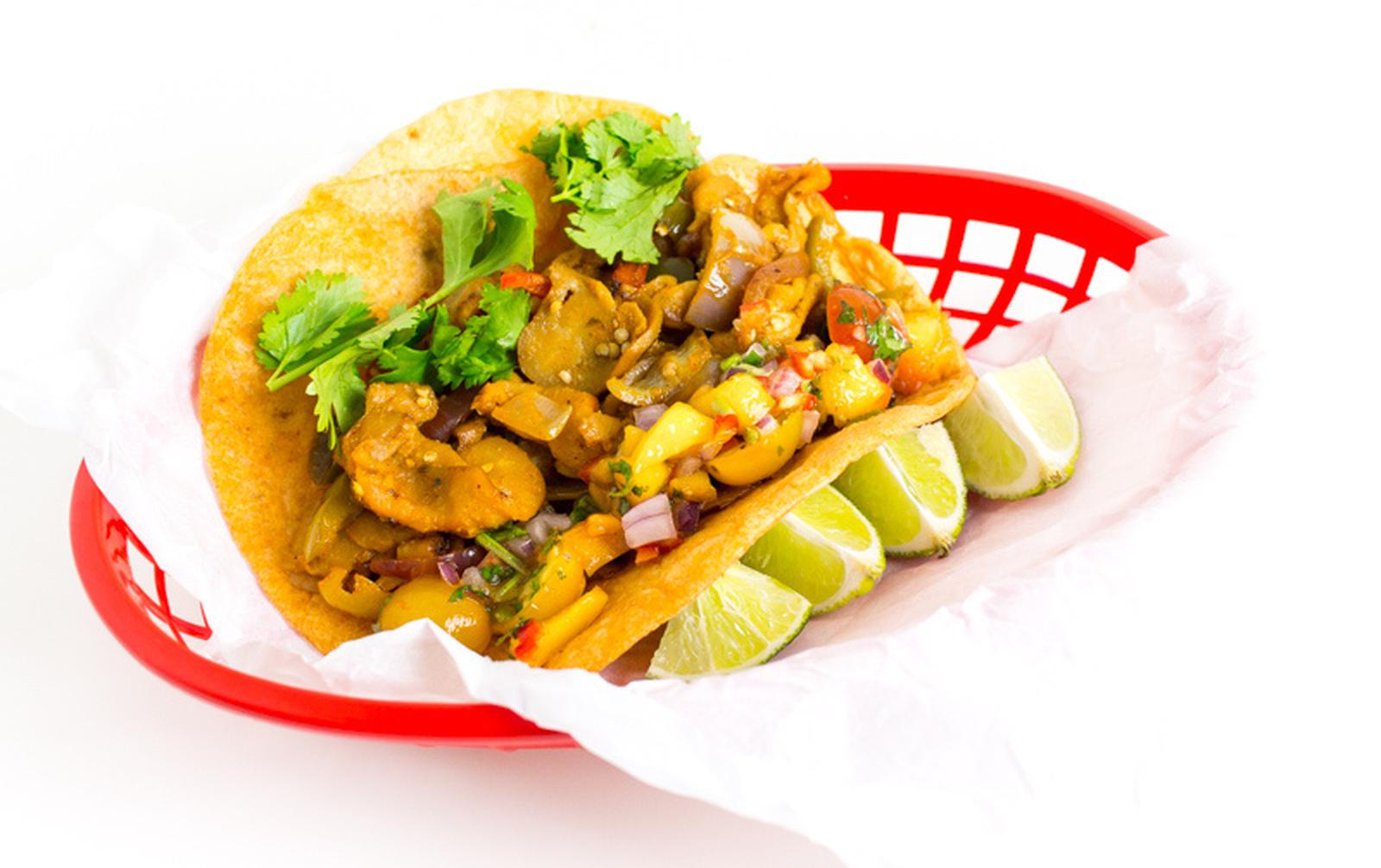 Eggplant Fajita Tacos [Vegan, Gluten-Free]