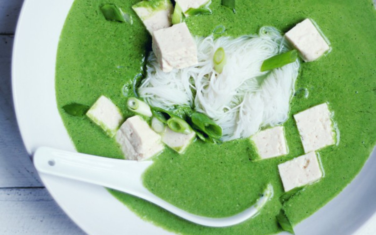 Green Curry Peanut Noodle Soup
