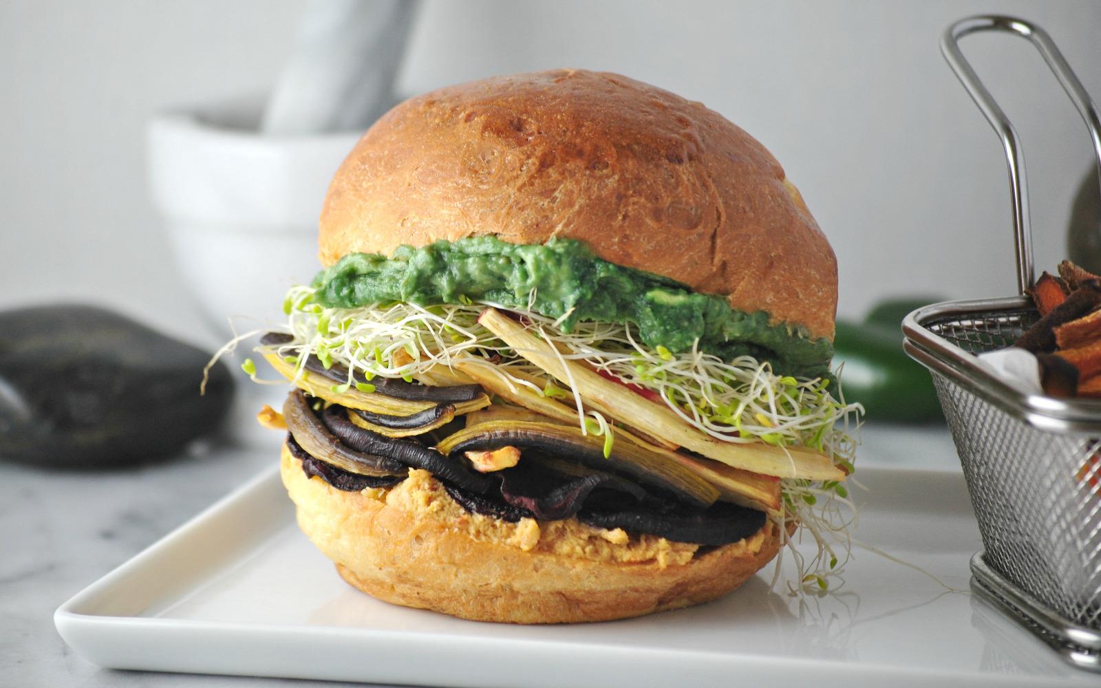 Roasted Root Veggie Sandwich