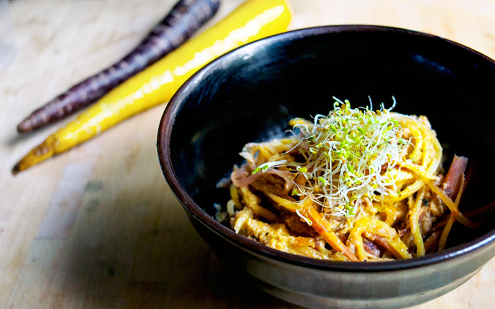 heirloom carrot pasta