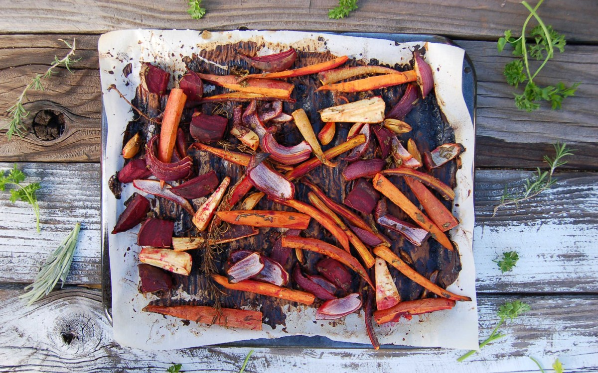 Tangerine Roasted Root Veggies