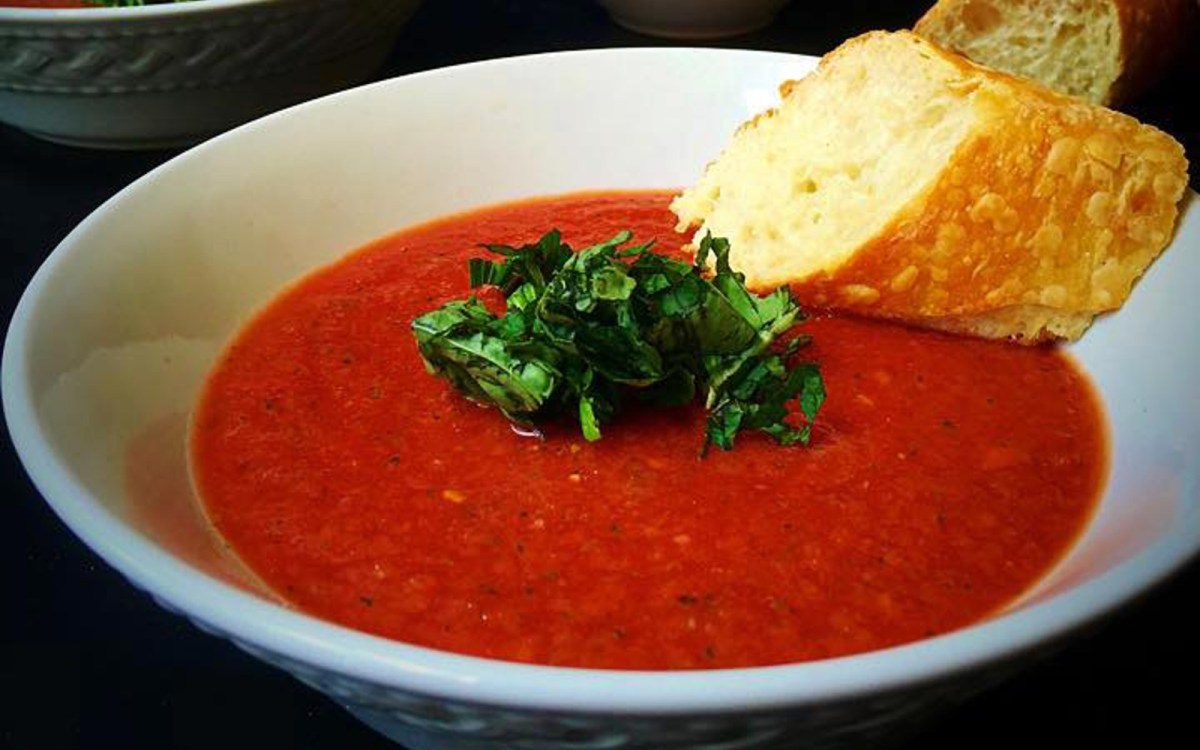 10 Minute Gazpacho With Fresh Herbs