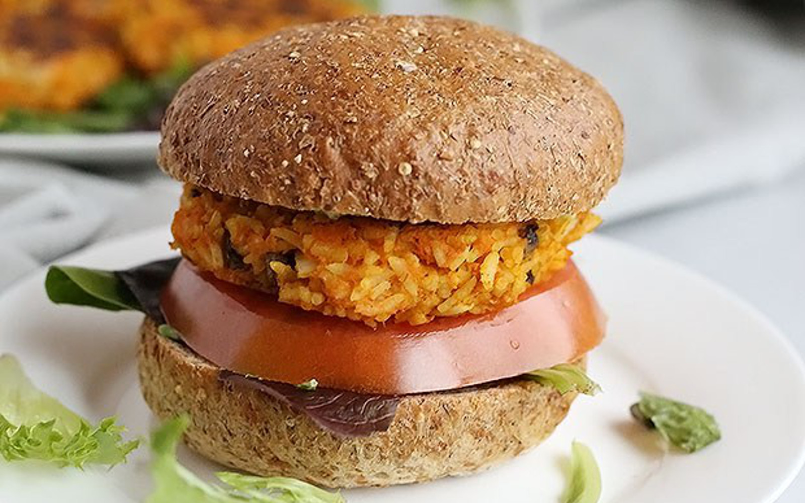 Curried Rice And Sweet Potato Burgers