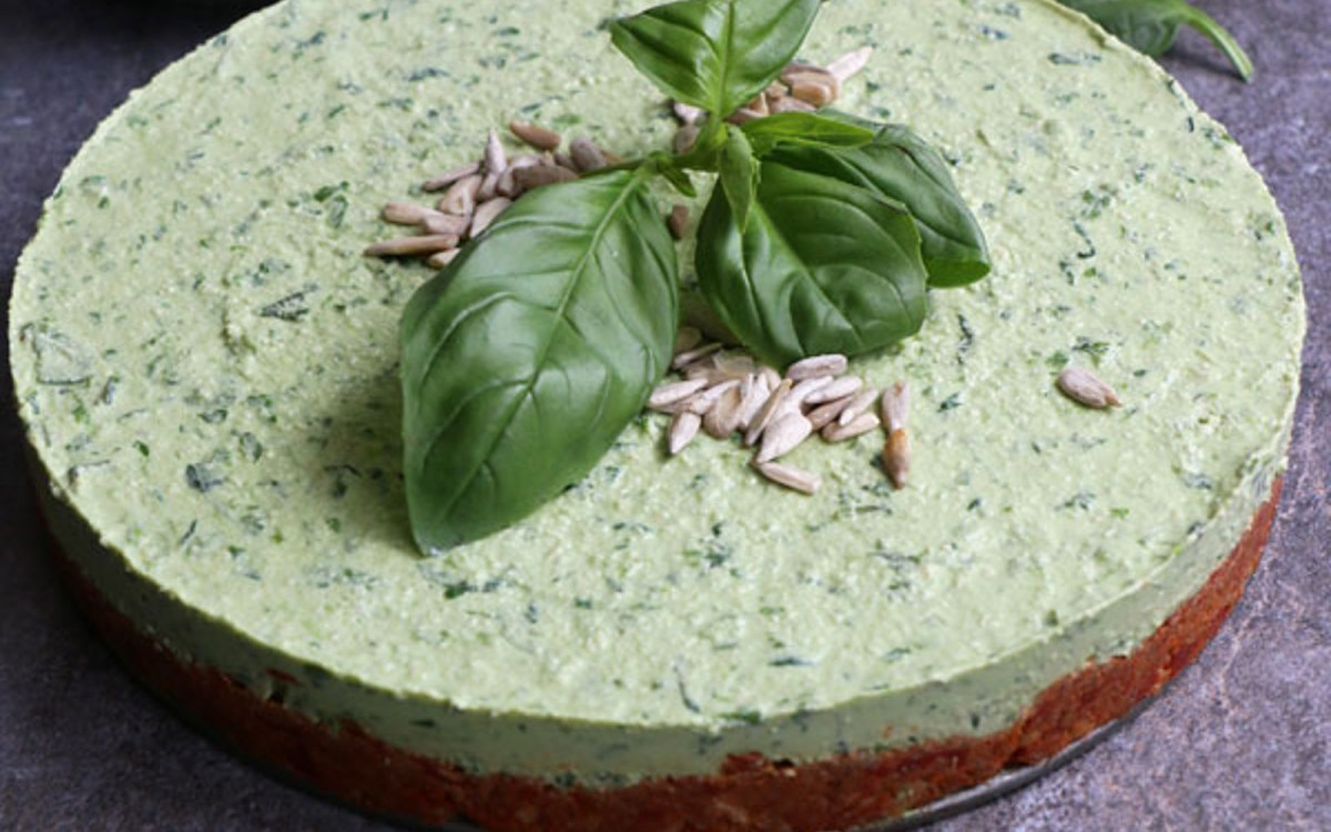 Raw Spinach Cheesecake 3