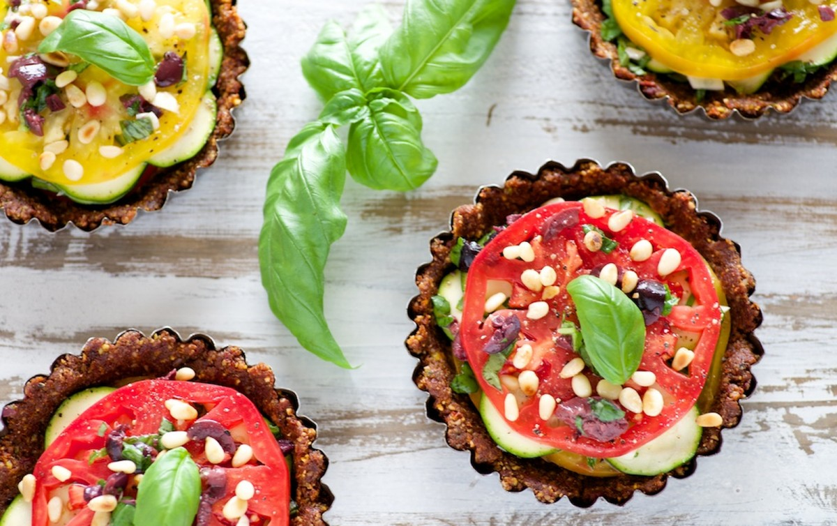 Sun Dried Tomato and Zucchini Tarts