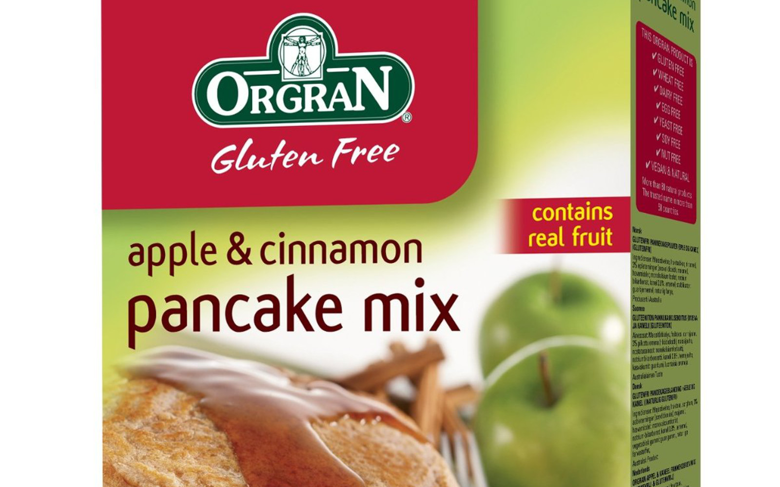 Orgran Apple Cinnamon Pancakes