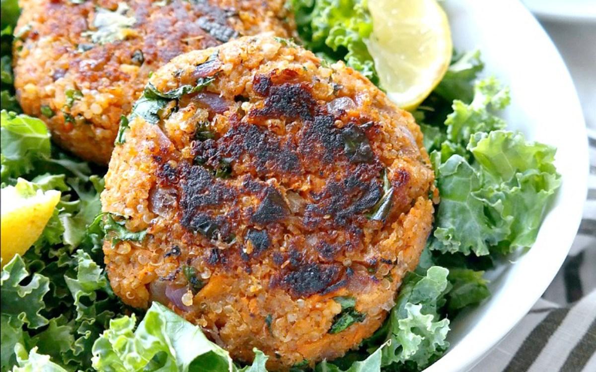 Quinoa Kale Veggie Burgers