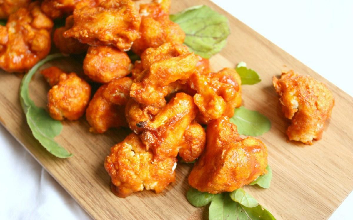 Sweet and Spicy Buffalo Cauliflower Wings
