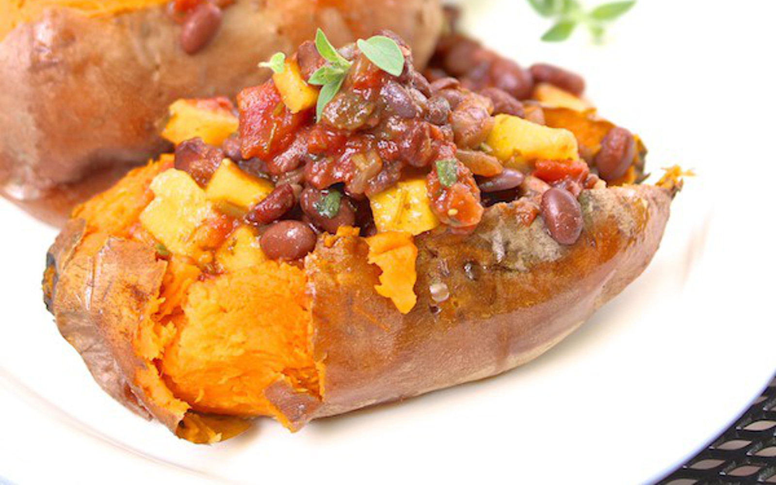 grilled sweet potato boats