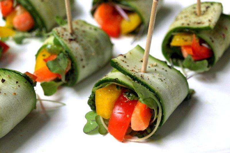 Vegan Raw Zucchini Wraps