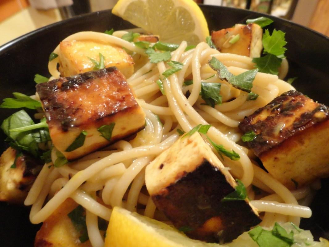 """Tofu """"Shrimp"""" Scampi"""