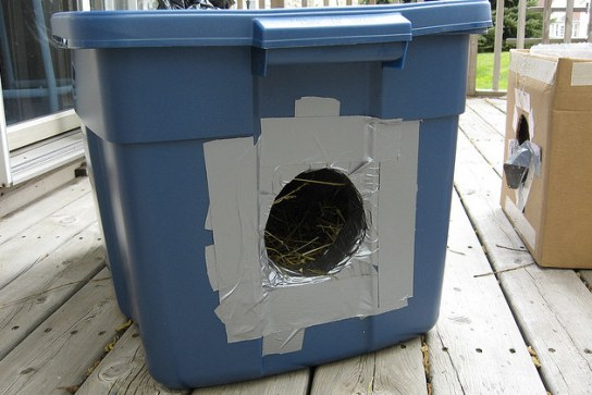 Outdoor Shelters For Animals : How to care for neighborhood feral cats during the winter