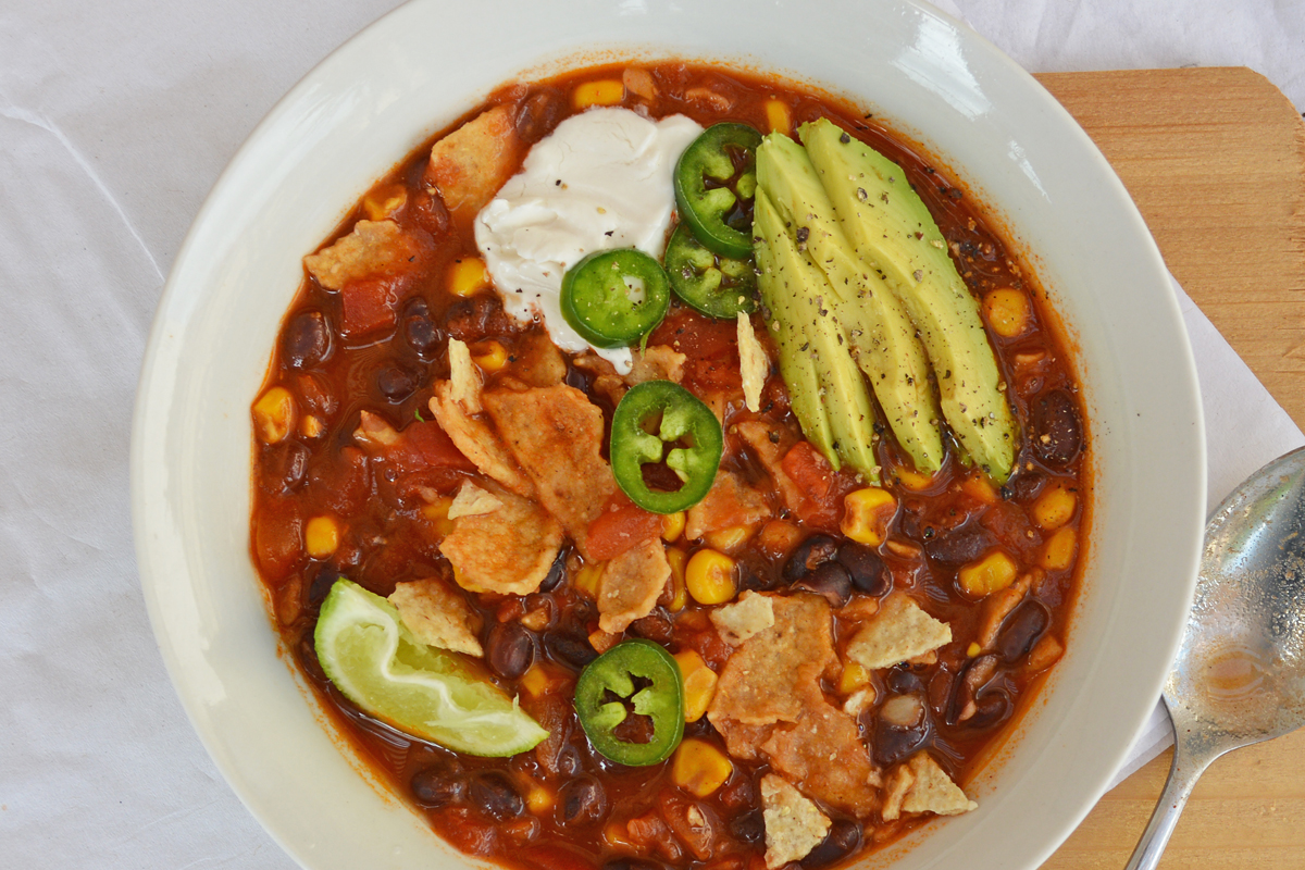 Roasted Corn and Lime Tortilla Soup [Vegan] - One Green Planet