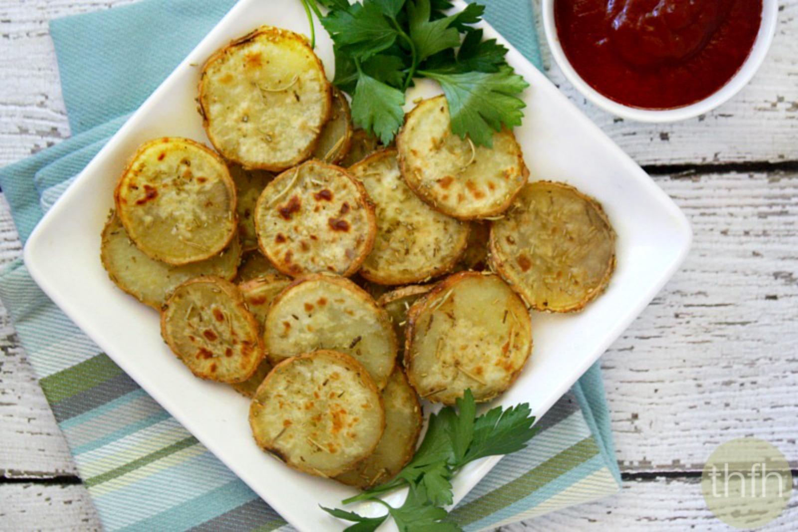 Vegan Rosemary and Garlic Sweet Potato Medallions