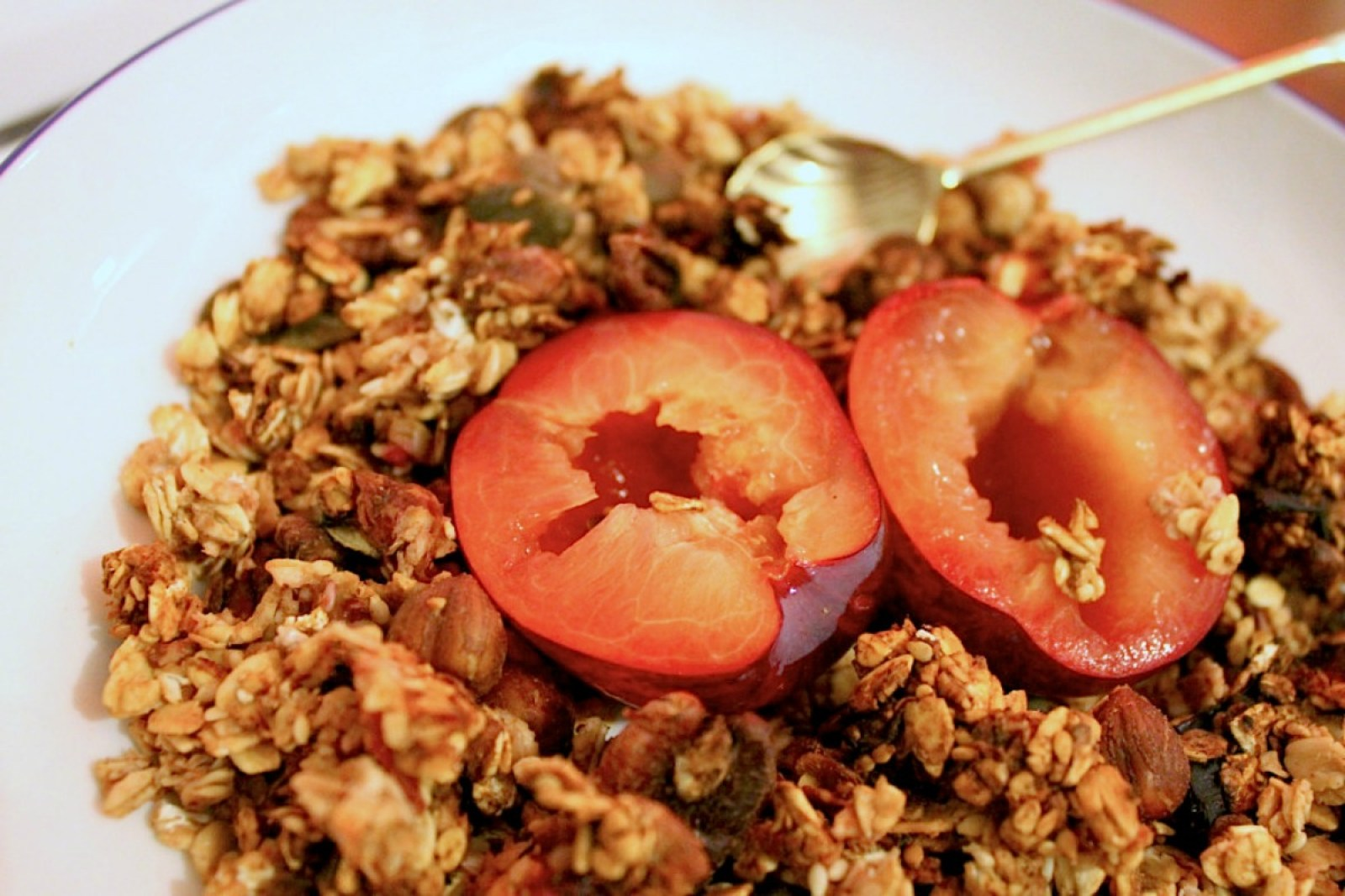 Healthy Plum and Pecan Granola [Vegan, Gluten-Free]
