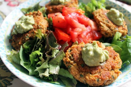 Red Lentil and Amaranth Protein Patties With Spicy Avocado Mayo [Vegan, Gluten-Free]