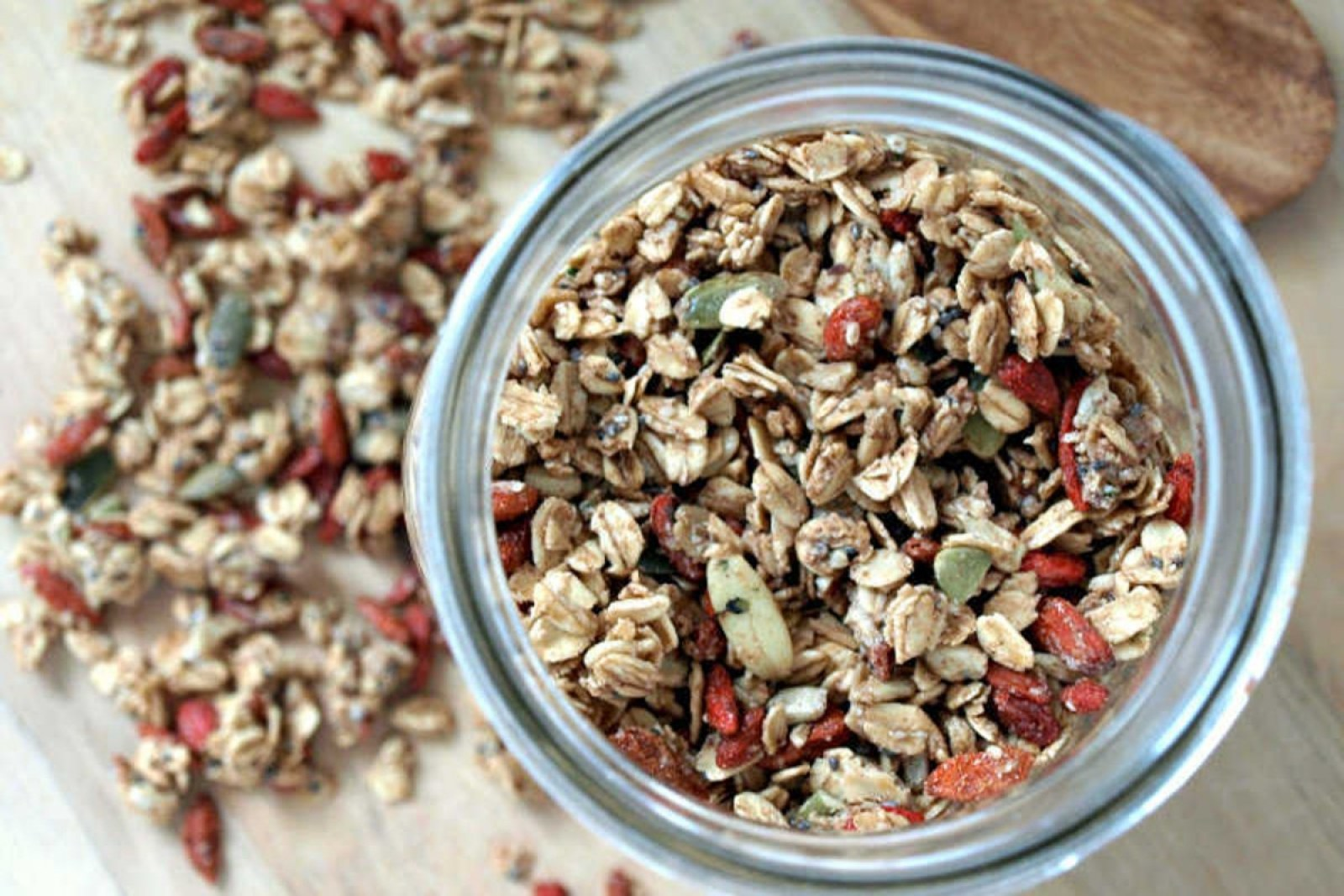Vegan Seeds and Goji Berry Granola
