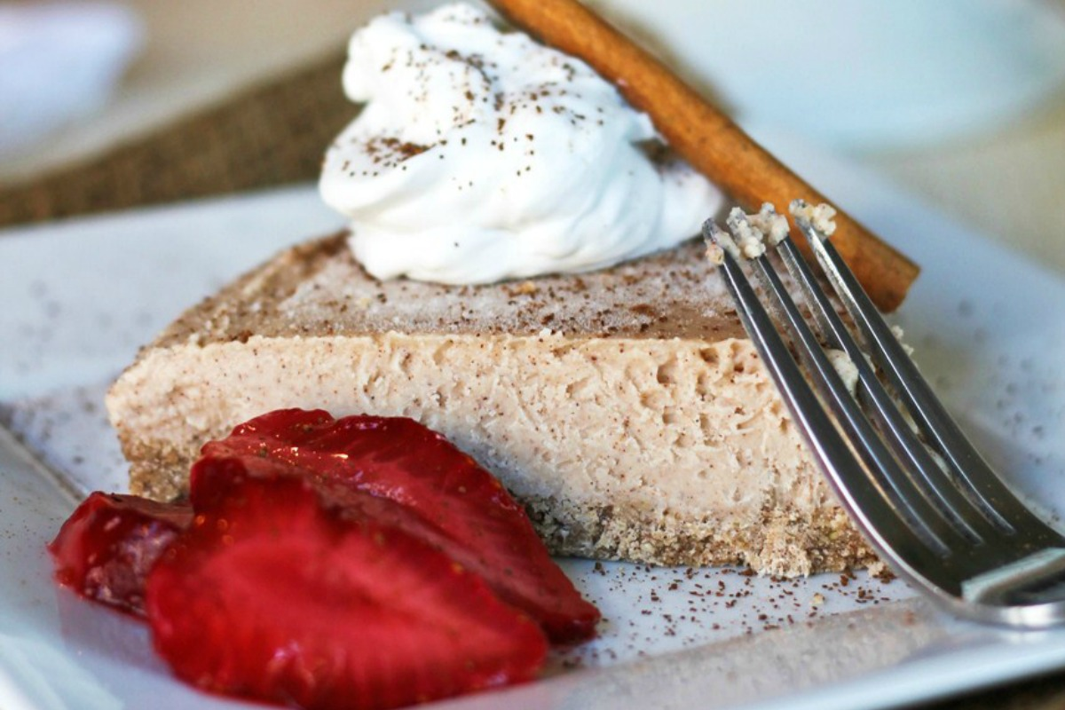 Cinnamon Coconut New York Style Cheesecake