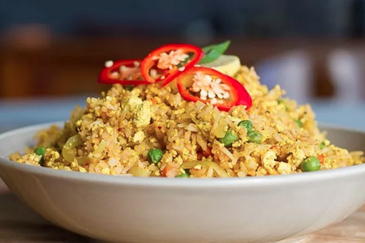 Vegan Scrambled Tofu Fried Rice